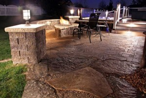 Patio and Fireplace Outdoor Luxury